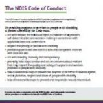 The NDIS Code of Conduct